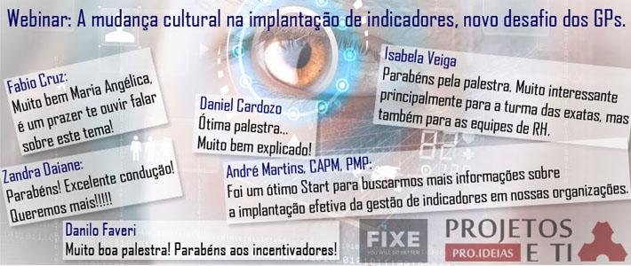 Webinar: A mudança cultural na implantação de indicadores, novo desafio dos GPs
